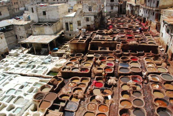The tanneries Chouara in fes is definently a worthy place to visit with our Morocco two week itinerary