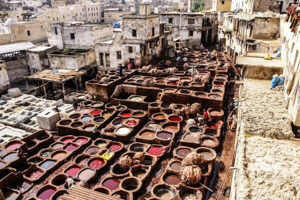 Morocco Fes desert tours, Fes tanneries