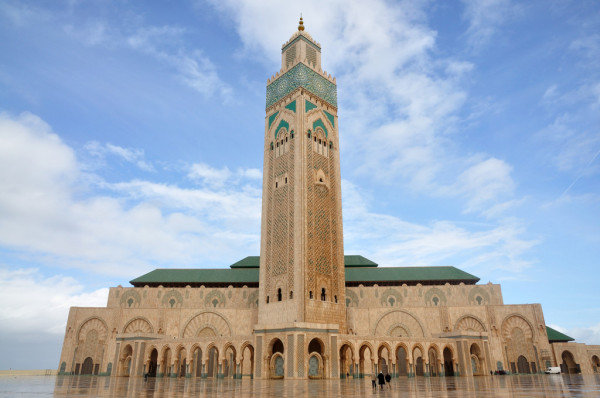 Morocco 14 days tour itinerary to the mosque of Hassan II in Casablanca