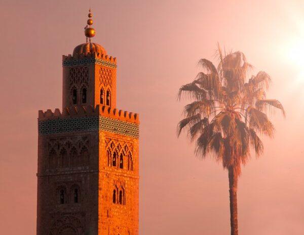 Marrakech grand mosque of El koutoubia