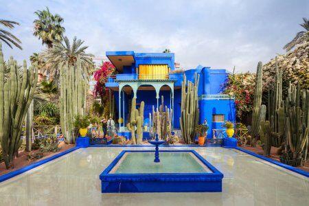 Majorelle garden at gueliz Marrakech Morocco