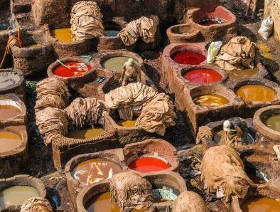 Tanneries from 3 days tour from Fes to Marrakech
