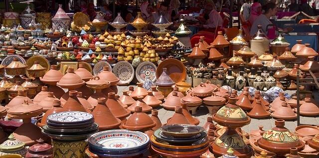 Morocco souk, market