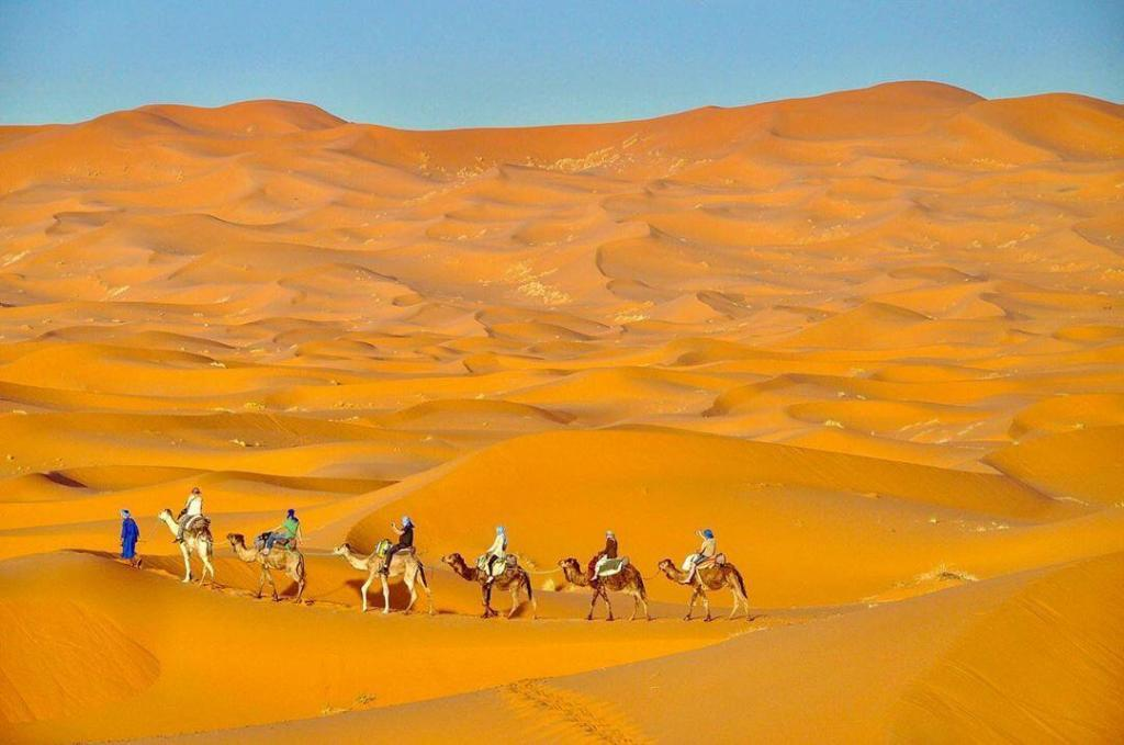 The Sand dunes of Merzouga are the best and the highlight of our bMorocco itinerary travel 1 week