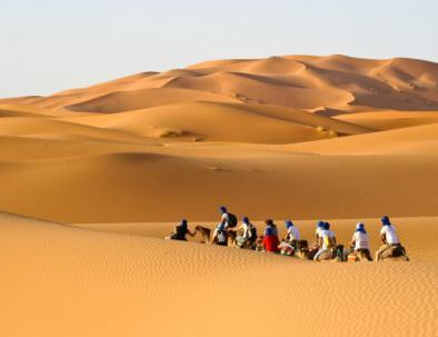 Camel rides in Merzouga, Erg Chebbi with the desert tour and trekking in Erg Chebbi