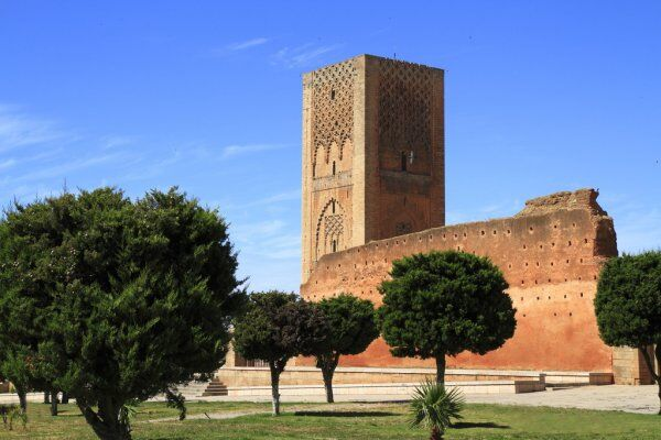 Hassan Tower with Morocco travel guide
