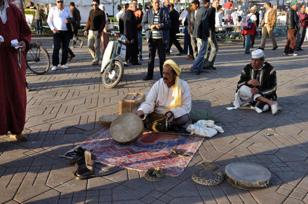 Snake charmers with Fes desert tours to Marrakech