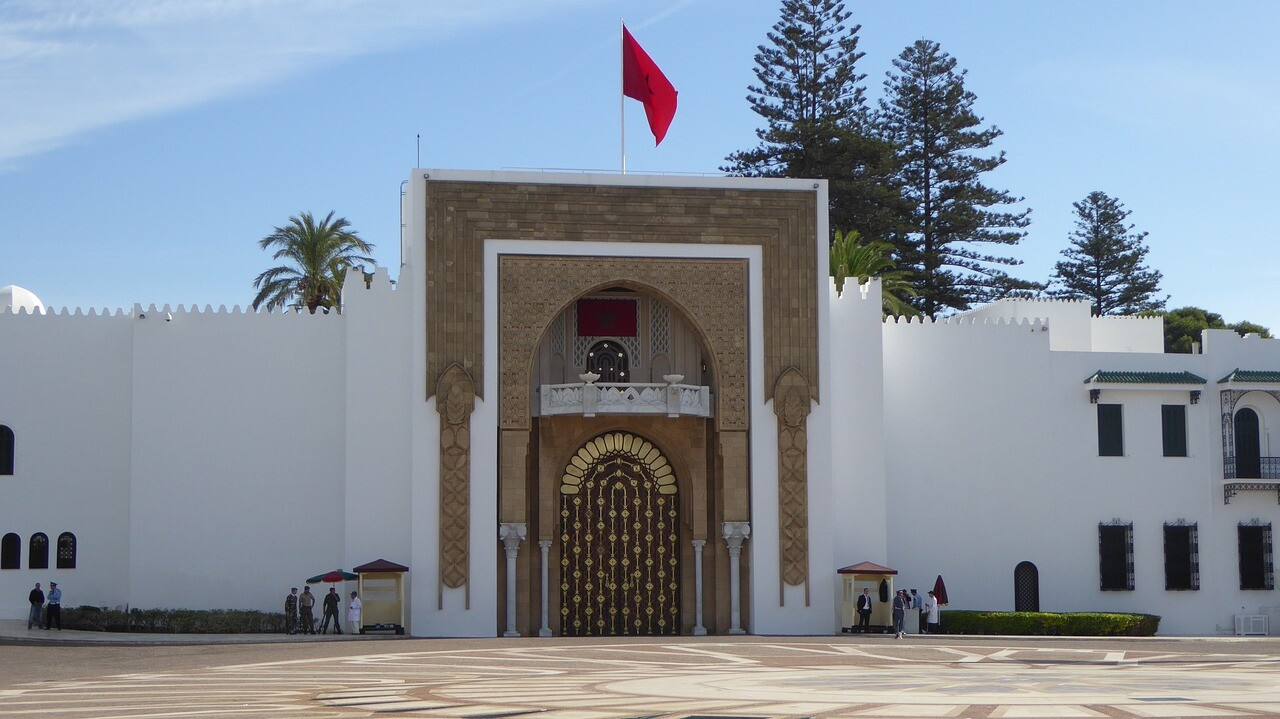 The royal palace in tetouan