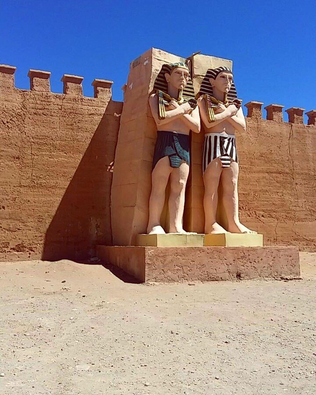 The statue of the atlas studios in Ouarzazate