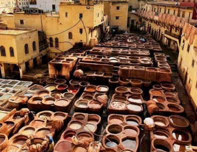 Fes tanneries are one of our destinations with our 8 days morocco itinerary from Morocco