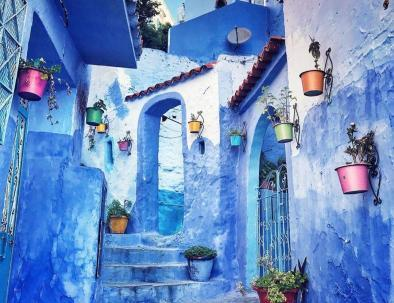 Chefchaouen, the blue perl and the last city we will explore with our 8 days morocco itinerary