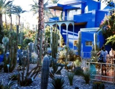 Majorelle garden, a place we will visit with our 8 days in Morocco itinerary from Casablanca