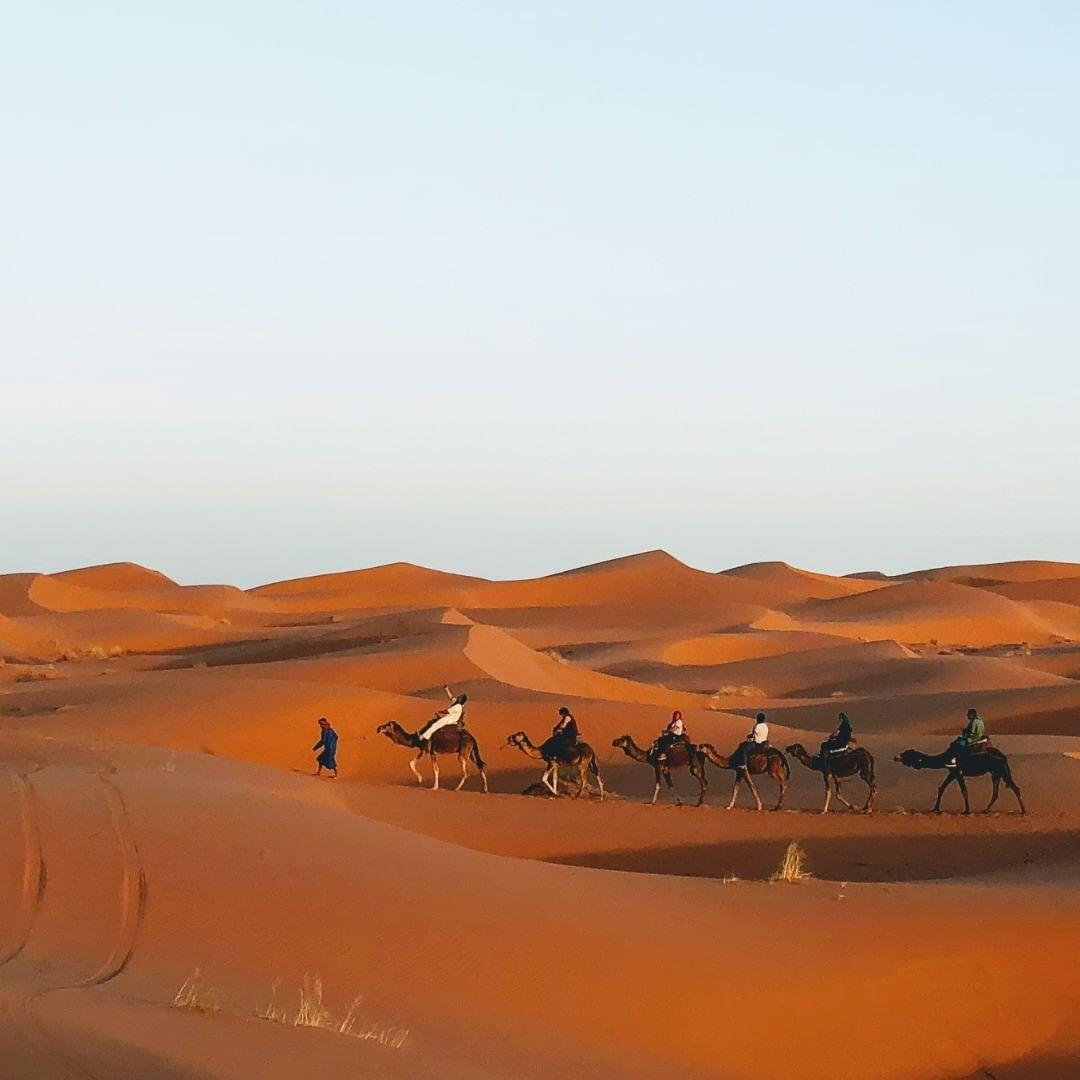 Merzouga sahara has to be the best and the highlight of our 8 days in Morocco itinerary from Casablanca