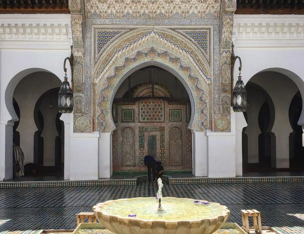 We will visit the university of al qarawiyyin university on the last day of our MArrakech desert tour one week