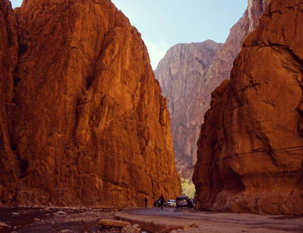 The grand canyons at todgha gorges, we will pass by the on the 3rd days of our Marrakech desert tour to Fes