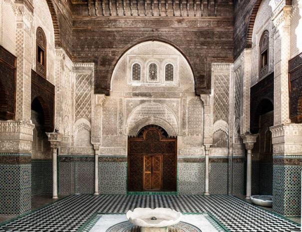 old MAdrassa of Bou inania, a place we will discover when touring 5 days in Morocco