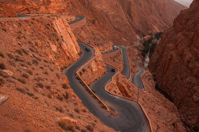 canyons in Morocco using the 5 days tour from Fes to Marrakech