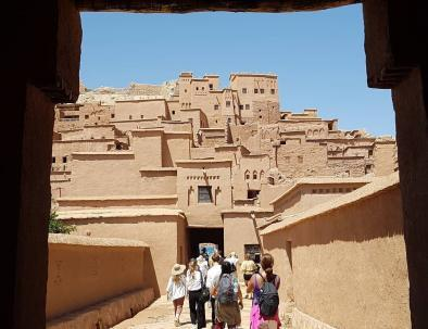 When touring in Morocco with us for 9 days, our itinerary will pass by the fortified KAsbah of Ait benhaddou