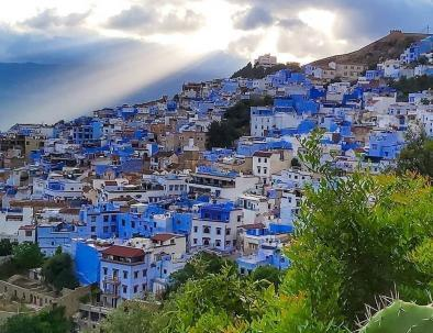 a panoramic view of Chefchaouen.