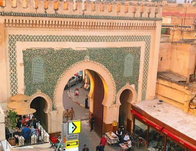 Bab Boujloud, the blue gate we will explore it with our Morocco itinerary 9 days