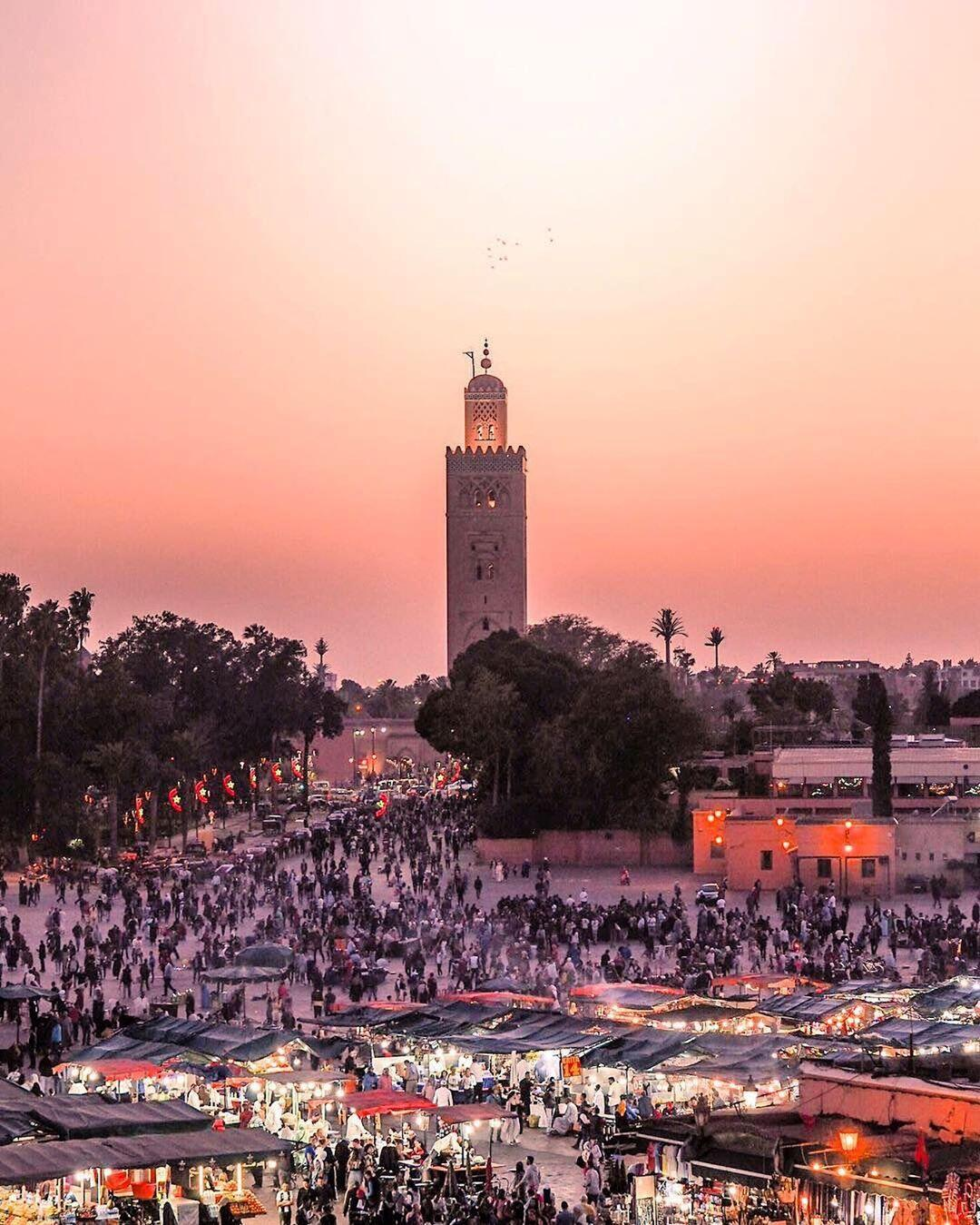 Jsquare of Marrakech, a destination we will visit with our 9 days tour itinerary in Morocco