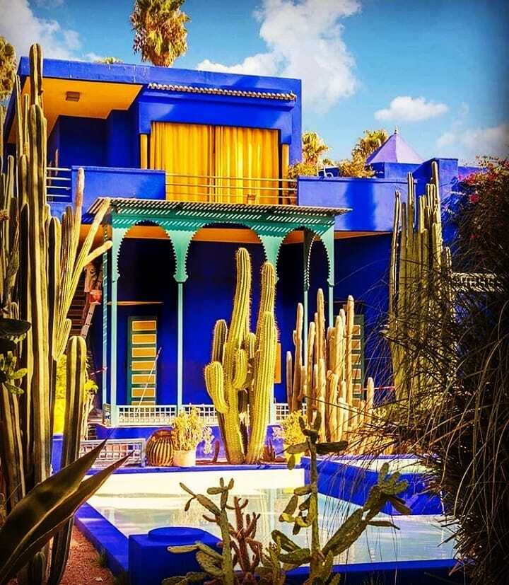 Garden of Majorelle with our 9 days in Morocco itinerary