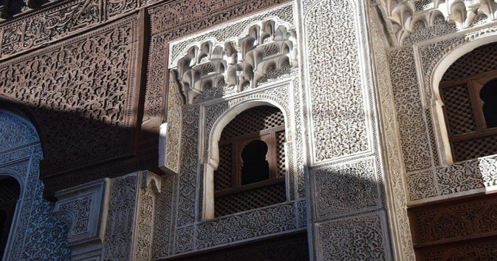 An architectural wall of Morocco
