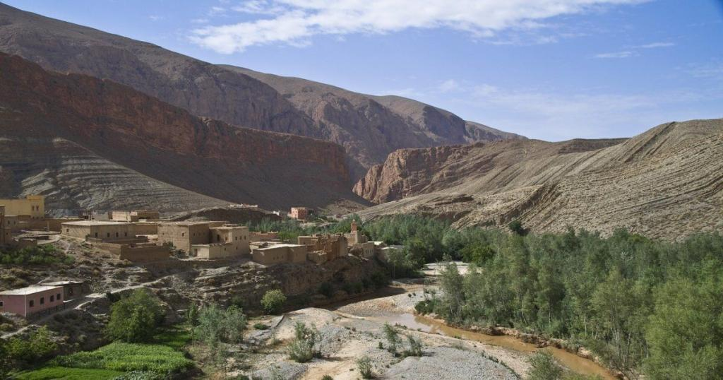 Dades valley in the south of Morocco