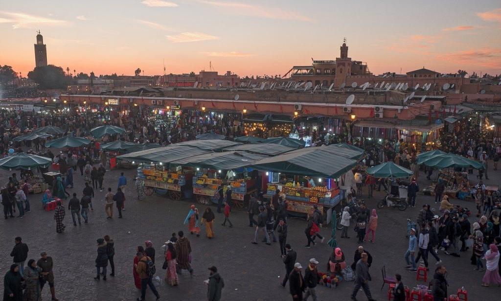 Square of Jemaa El-Fna Morocco