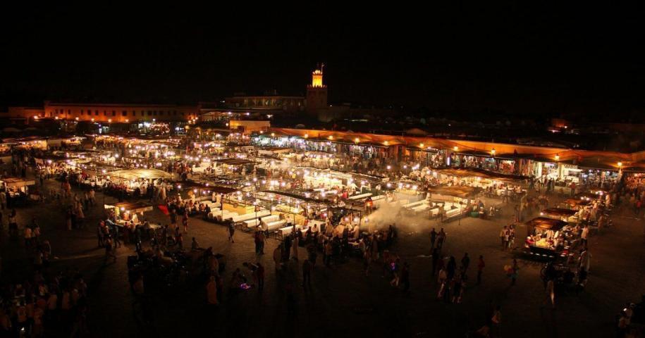 Jemaa El fna square in Marrakech Morocco