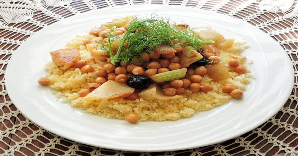 Moroccan Couscous in a plate