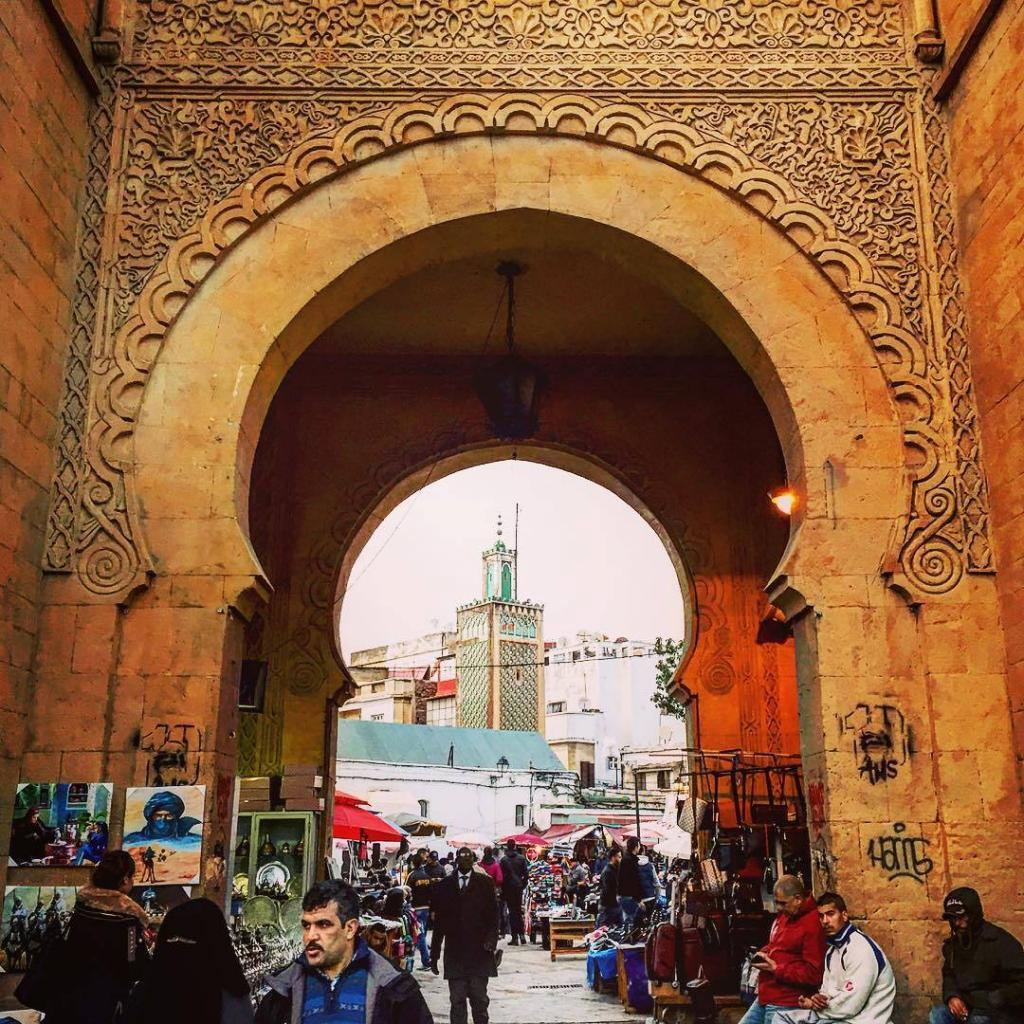 The old Medina in Casablanca, the best thing to do here is to walk along it's old walls