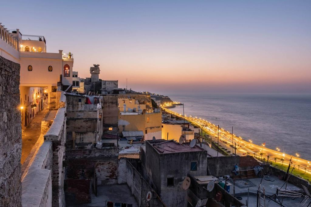 Tourists strrets in tangier, walking through them is a best thing to do in tangier