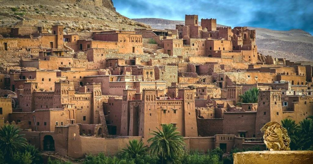 Ait Benhaddou, Red moroccan clay color