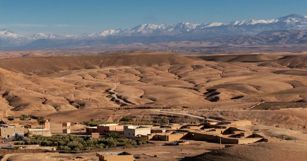A small village in Agafay desert