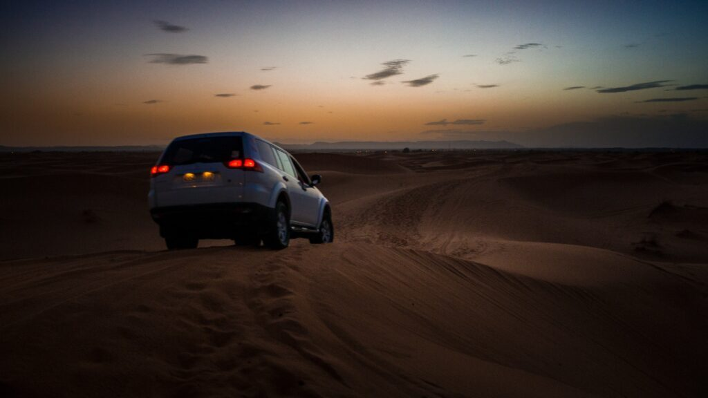 Take a 4x4 ride around the Erg Chebbi dunes, it is a great way to discover the ancient Merzouga.