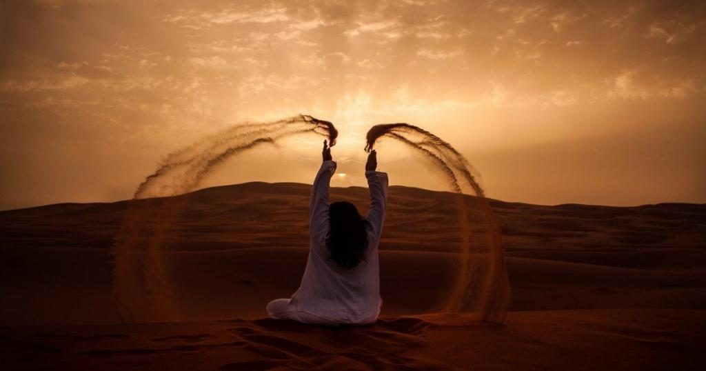 woman in the desert of Morocco