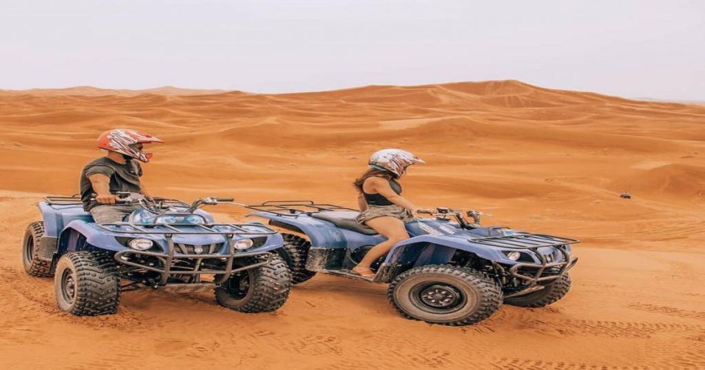 Quadbiking in the desert