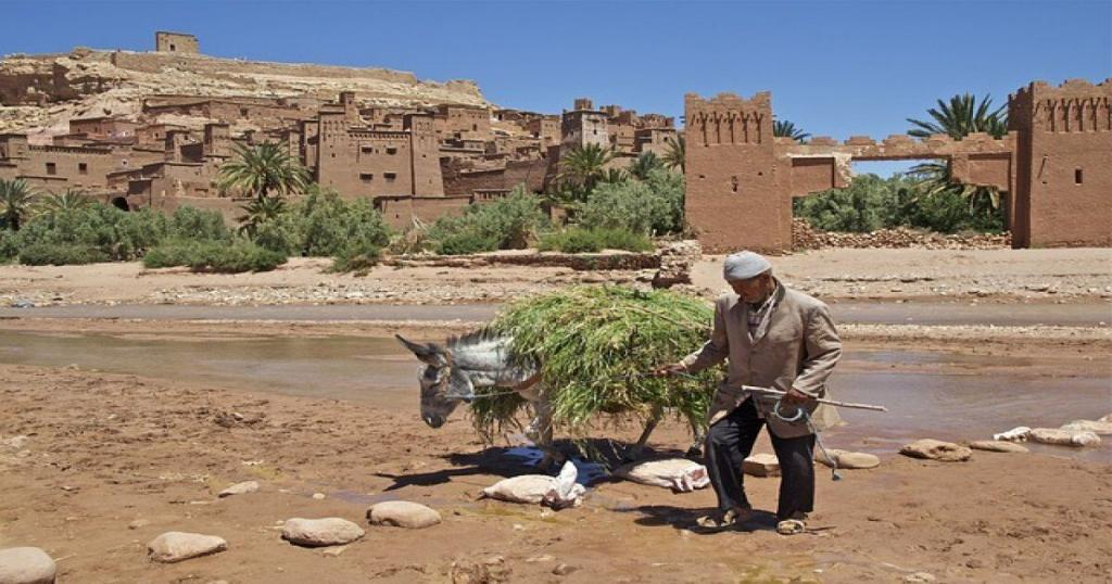 the fortress of ait ben haddou in Morocco