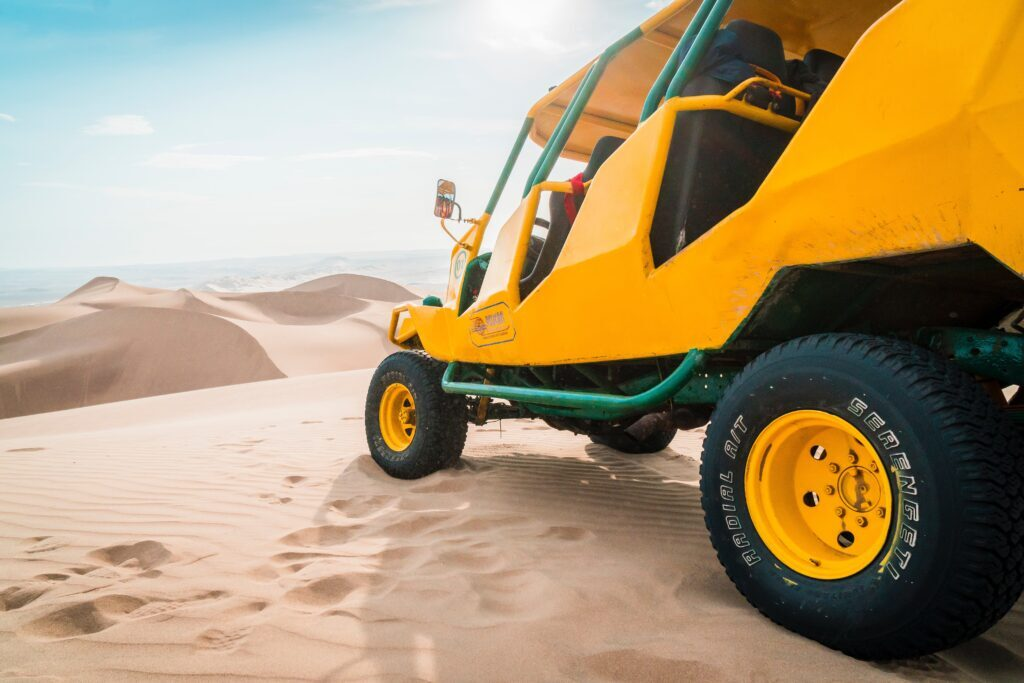 Taking he buggy on the Erg Chebbi dunes is one of the best things to do in Merzouga desert
