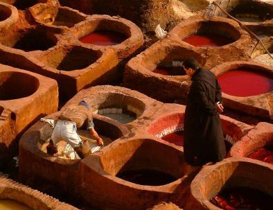 Chouara tannery, we will visit with our 6 days tour from Casablanca
