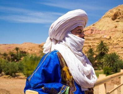 A Berber man in the Kasbah of Ait Benhaddou